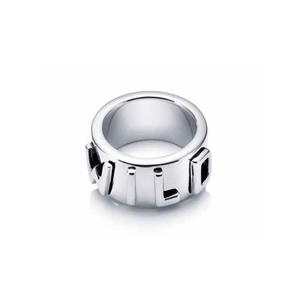 Designer: Efva Attling<br/>Style: Wild At Heart Ring<br/>Metal: Sterling silver, high polish<br/>Width: 0.50 inches<br/>Finger Size: 7.5 US