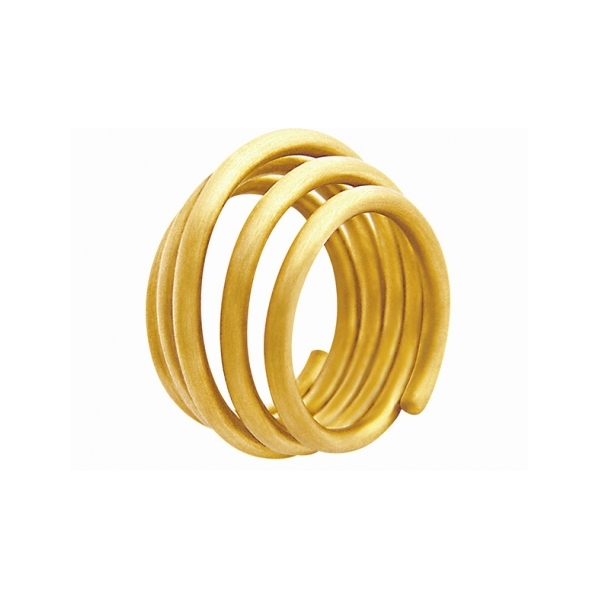 Designer: Antonio Bernardo<br/>Style: Roll Ring<br/>Metal: 18-karat yellow gold, matte finish<br/>Width: 0.562 inches<br/>Finger Size: 5.5 US