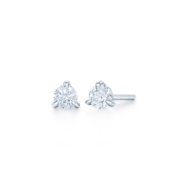 Diamond Stud Earrings<br/>Style: 3-prong 'martini' setting with locking backs<br/>Metal: Platinum<br/>Diamonds: 2 = 0.51 carat, G-H color, SI1 clarity, very fine Kwiat 'Tiara' cut