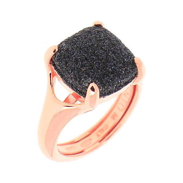 Designer: Pesavento<br/>Style: Square Cut 'Polvere' Ring<br/>Metal: 18-karat-rose-gold-plated sterling silver<br/>Width: 0.50 inches<br/>Finger Size: 7 US